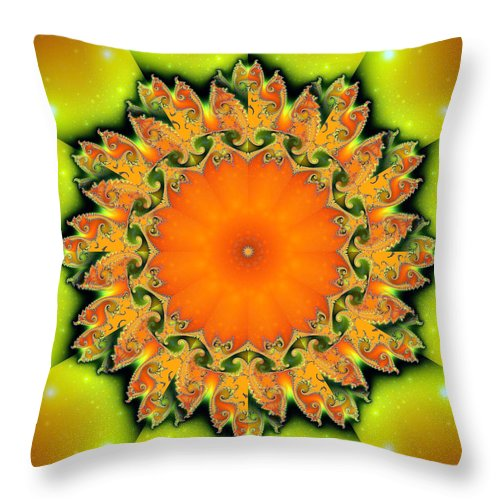 Fractal Throw Pillow featuring the digital art Kaleidoscope IIi by Richard Ortolano