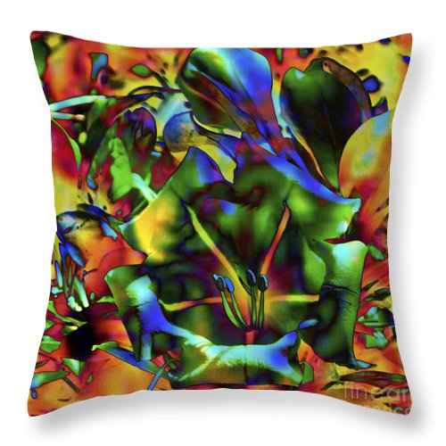 Fine Art Print Throw Pillow featuring the mixed media Kaleidoscope by Patricia Griffin Brett