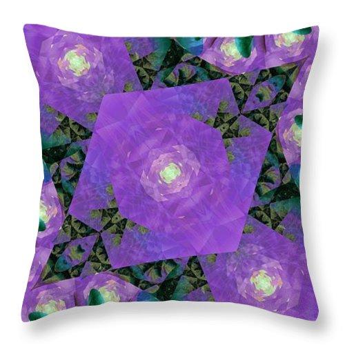 Fractal Throw Pillow featuring the digital art Katya II by Richard Kelly