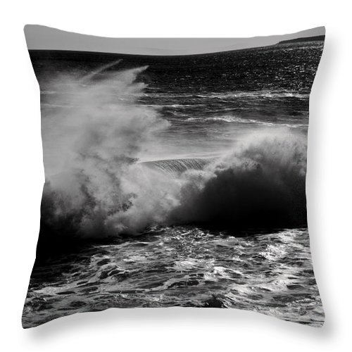 Water Throw Pillow featuring the photograph Kersplash by Greg DeBeck