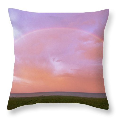 Full Throw Pillow featuring the photograph Kewaunee Rainbow - Fs000334 by Daniel Dempster