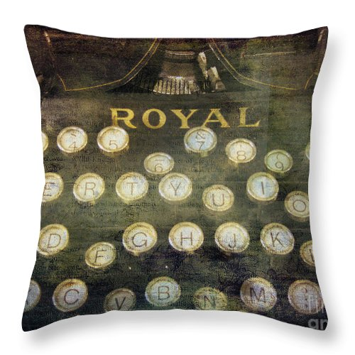 Typewriter Throw Pillow featuring the photograph Keyboard by Eena Bo