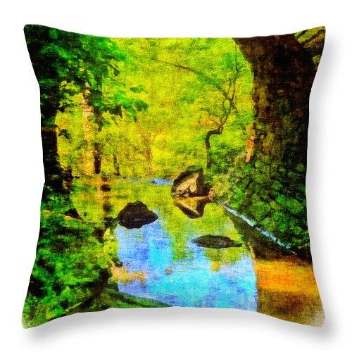 Bridge Throw Pillow featuring the photograph Keystone Bridge by Judi Bagwell