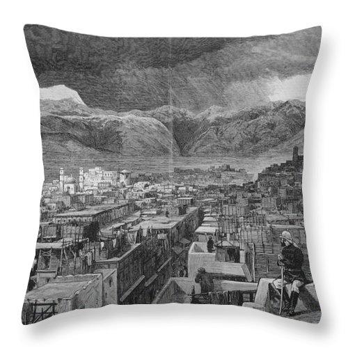 1878 Throw Pillow featuring the photograph Khyber Pass by Granger