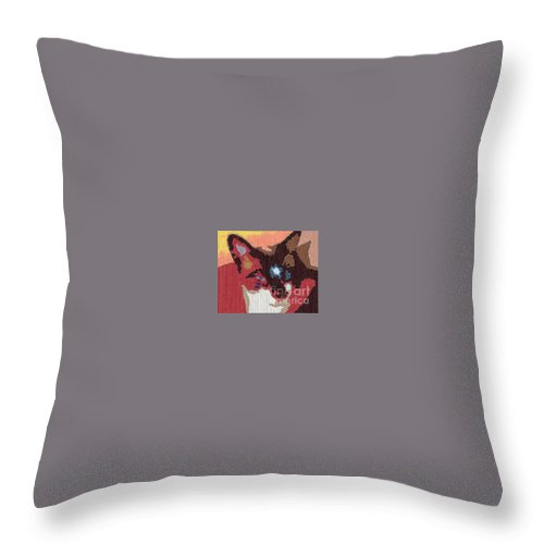 Digital Art Image Throw Pillow featuring the photograph Kila by Amber Stubbs