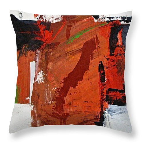 Abstract Painting Throw Pillow featuring the painting Kimono Lisa by Cliff Spohn