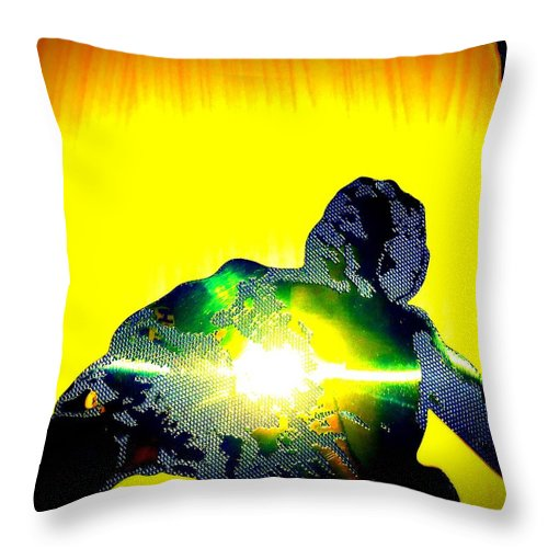 Neptune Throw Pillow featuring the photograph King Neptune by Randall Weidner