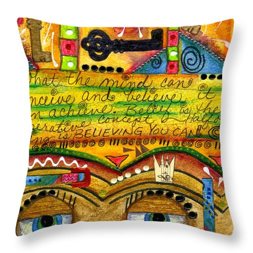 Greeting Cards Throw Pillow featuring the mixed media King Of Keys by Angela L Walker