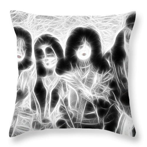 Kiss Throw Pillow featuring the digital art Kiss Magical by Paul Van Scott