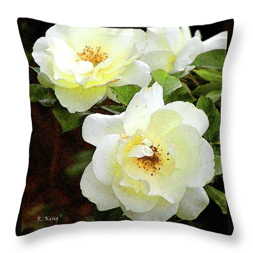 Roena King Throw Pillow featuring the photograph Kissed By The Sun by Roena King