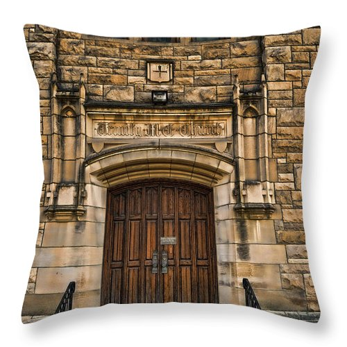 Door Throw Pillow featuring the photograph Knock by Pamela Baker