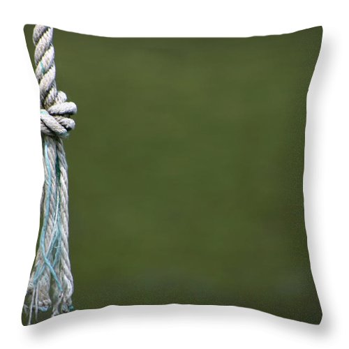 Rope Throw Pillow featuring the photograph Knot by Kelly Hazel
