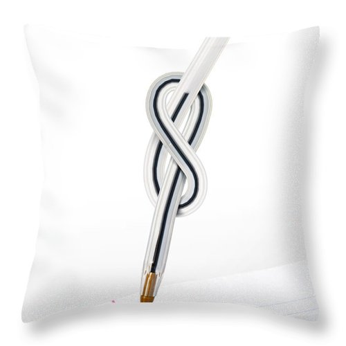 Abstract Throw Pillow featuring the photograph Knot Pen by Carlos Caetano