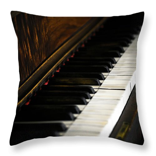 Piano Throw Pillow featuring the photograph Kohler And Cambell One by Sam Hymas