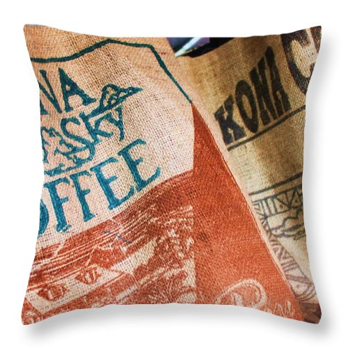 Kona Throw Pillow featuring the photograph Kona Coffee by Caroline Lomeli