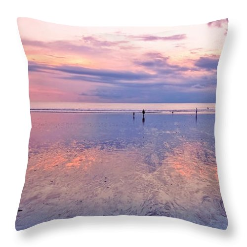 Beach Throw Pillow featuring the photograph Kuta Beach Bali by Charuhas Images