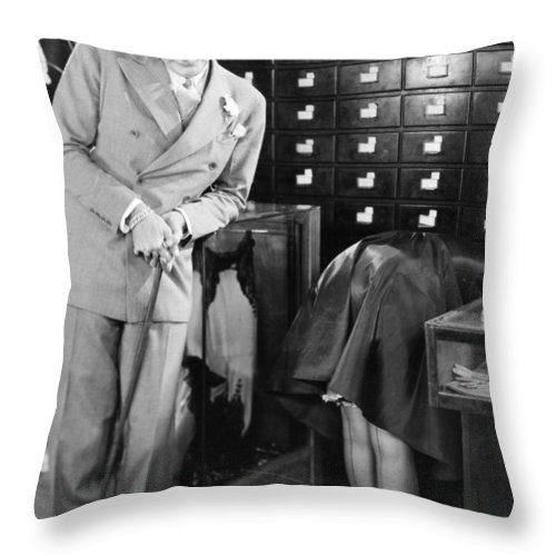 -stores- Throw Pillow featuring the photograph Ladies Must Dress, 1927 by Granger