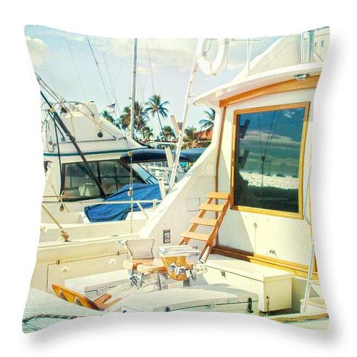 Aloha Throw Pillow featuring the photograph Lahaina by Sharon Mau