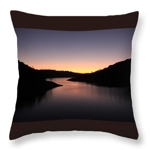 Sunset Throw Pillow featuring the photograph Lake Anderson Sunset by Leonard Sharp