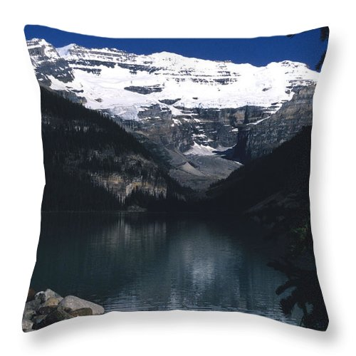 Lake Louise Throw Pillow featuring the photograph Lake Louise II by Sharon Elliott
