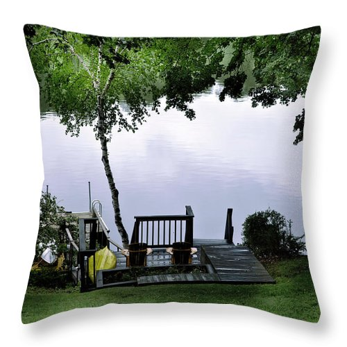Lake Throw Pillow featuring the photograph Lakeside Dream 2 by Madeline Ellis