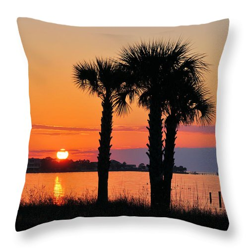 Seascapes Throw Pillow featuring the photograph Land Of Heart's Desire by Jan Amiss Photography