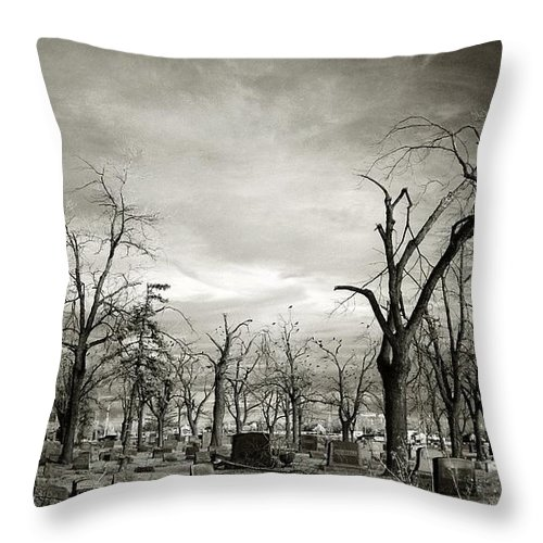 Infrared Throw Pillow featuring the photograph Land Of The Lost Spirits by Gothicrow Images
