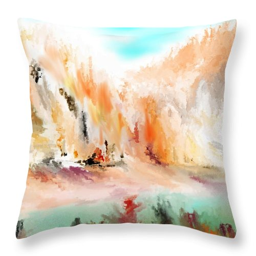 Fine Art Throw Pillow featuring the digital art Landscape 111511 by David Lane
