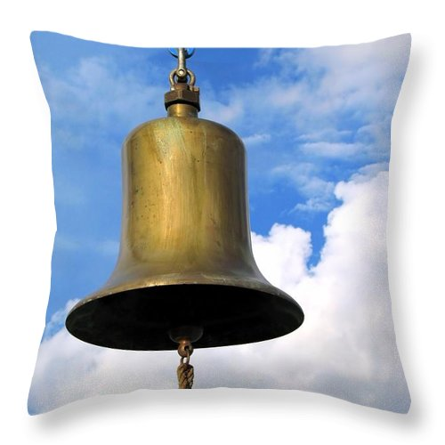 Bell Throw Pillow featuring the photograph Large Bell by Yali Shi