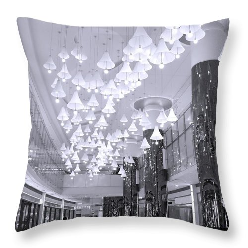 Mall Throw Pillow featuring the photograph Large Mall Lobby by Yali Shi