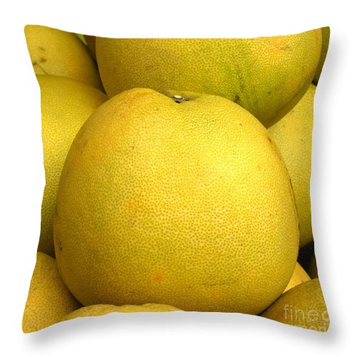 Pomelo Throw Pillow featuring the photograph Large Pomelos by Yali Shi