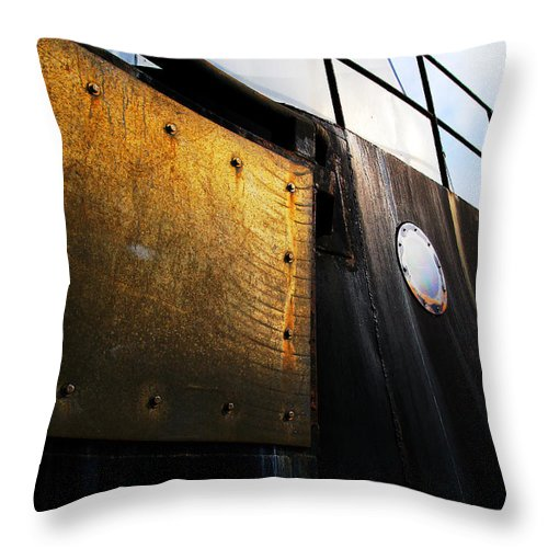 Boat Throw Pillow featuring the photograph Large Ship by Michele Cornelius