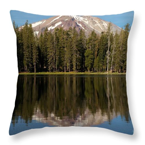 Summit Lake Throw Pillow featuring the photograph Lassen In Summit Lale by Adam Jewell