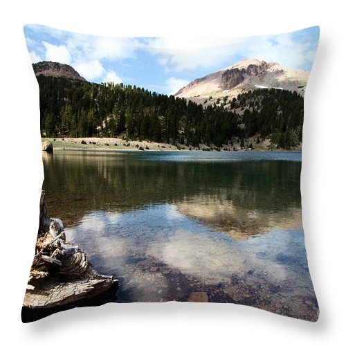 Lassen Volcanic National Park Throw Pillow featuring the photograph Lassen Mountain Lakes by Adam Jewell