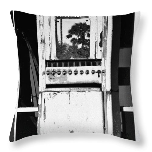 Cigarettes Throw Pillow featuring the photograph Last Cigarette Bw Palm Springs by William Dey