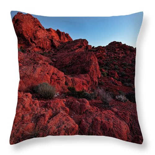 Nevada Throw Pillow featuring the photograph Last Light In Valley Of Fire by Rick Berk