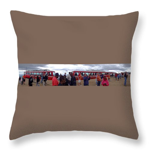 Peak Throw Pillow featuring the digital art Last Stop The Top by Barkley Simpson