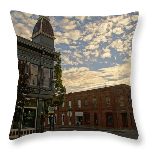 5th Throw Pillow featuring the photograph Late Afternoon At The Corner Of 5th And G by Mick Anderson
