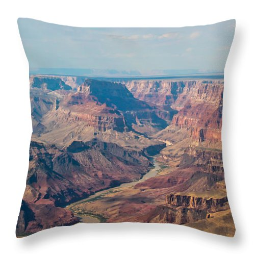 The Grand Canyon Throw Pillow featuring the photograph Late Afternoon by Heidi Smith