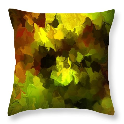 Fine Art Throw Pillow featuring the digital art Late Summer Nature Abstract by David Lane