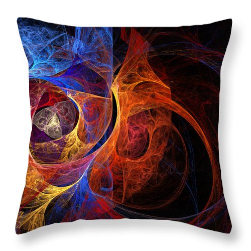 Layers Throw Pillow featuring the digital art Layers by Ricky Barnard