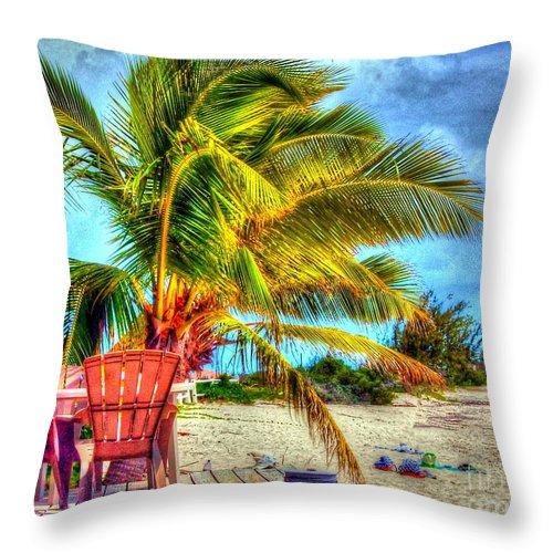 Beach Throw Pillow featuring the photograph Lazy Beach Day by Debbi Granruth