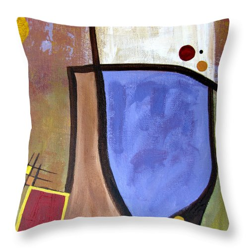 Abstract Throw Pillow featuring the painting Lazy Days II by Ruth Palmer