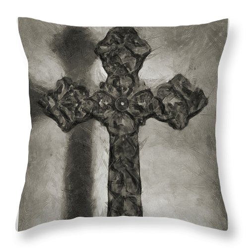 Faith Throw Pillow featuring the photograph Lead Me To The Cross 4 by Angelina Vick