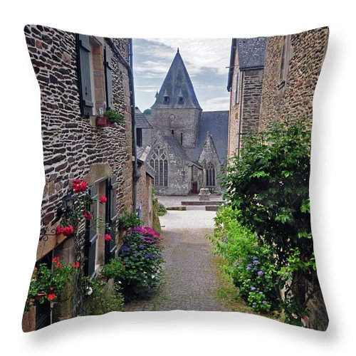 Church Throw Pillow featuring the photograph Leading To The Church Provence France by Dave Mills