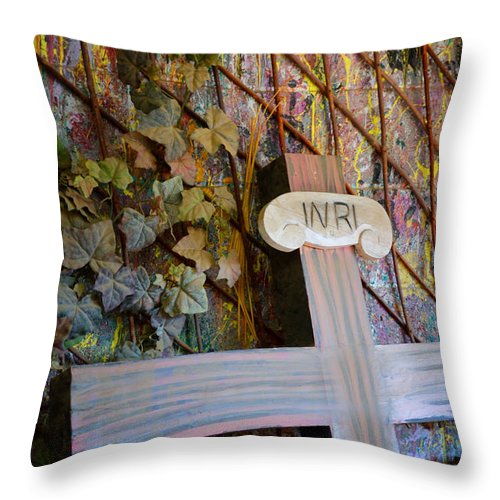 Cross Throw Pillow featuring the photograph Left Behind by Diane Wood