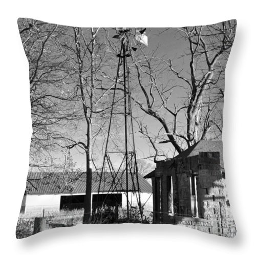 Windmill Throw Pillow featuring the photograph Left Standing by Brittany Horton