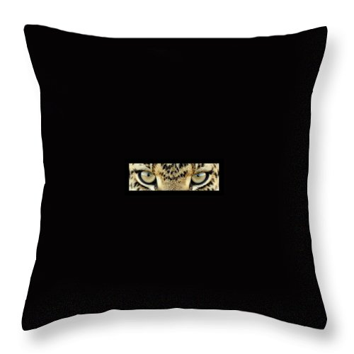 Eyes Throw Pillow featuring the photograph Leopard Eyes by Sumit Mehndiratta