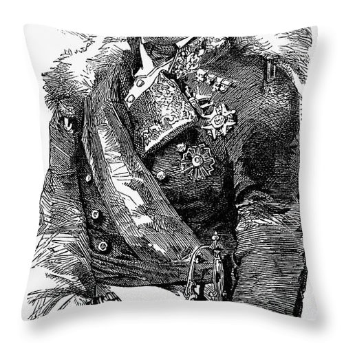 19th Century Throw Pillow featuring the photograph Leopoldo Odonnell by Granger