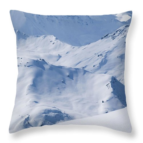 France Throw Pillow featuring the photograph Les Arcs, France by Axiom Photographic
